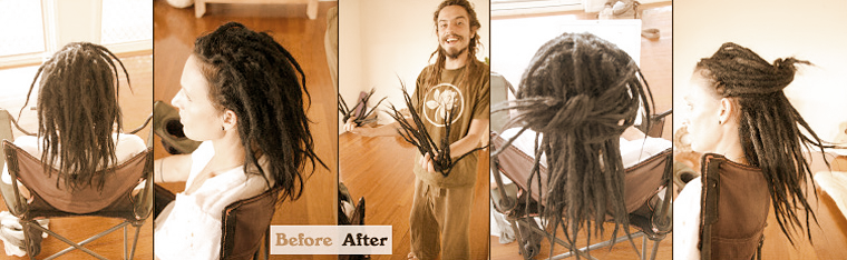 How to make dreadlock extensions with human hair